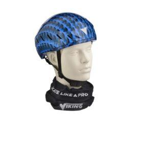 Schaats helm blauw-zwart